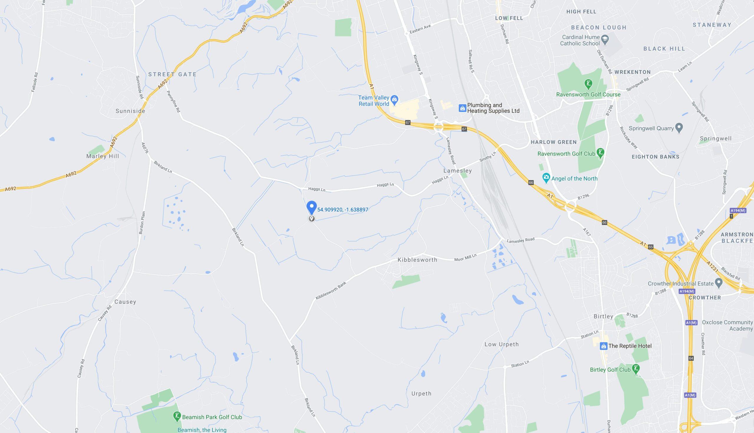 Ravensworth Grange Farm map